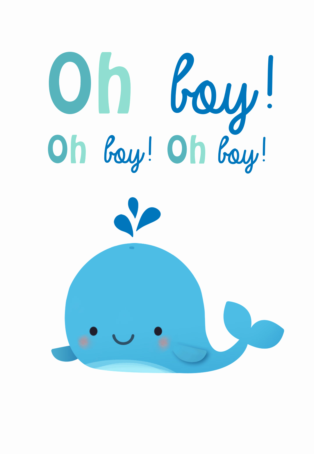 Baby Shower Card Printable Lovely Oh Boy Baby Shower & New Baby Card