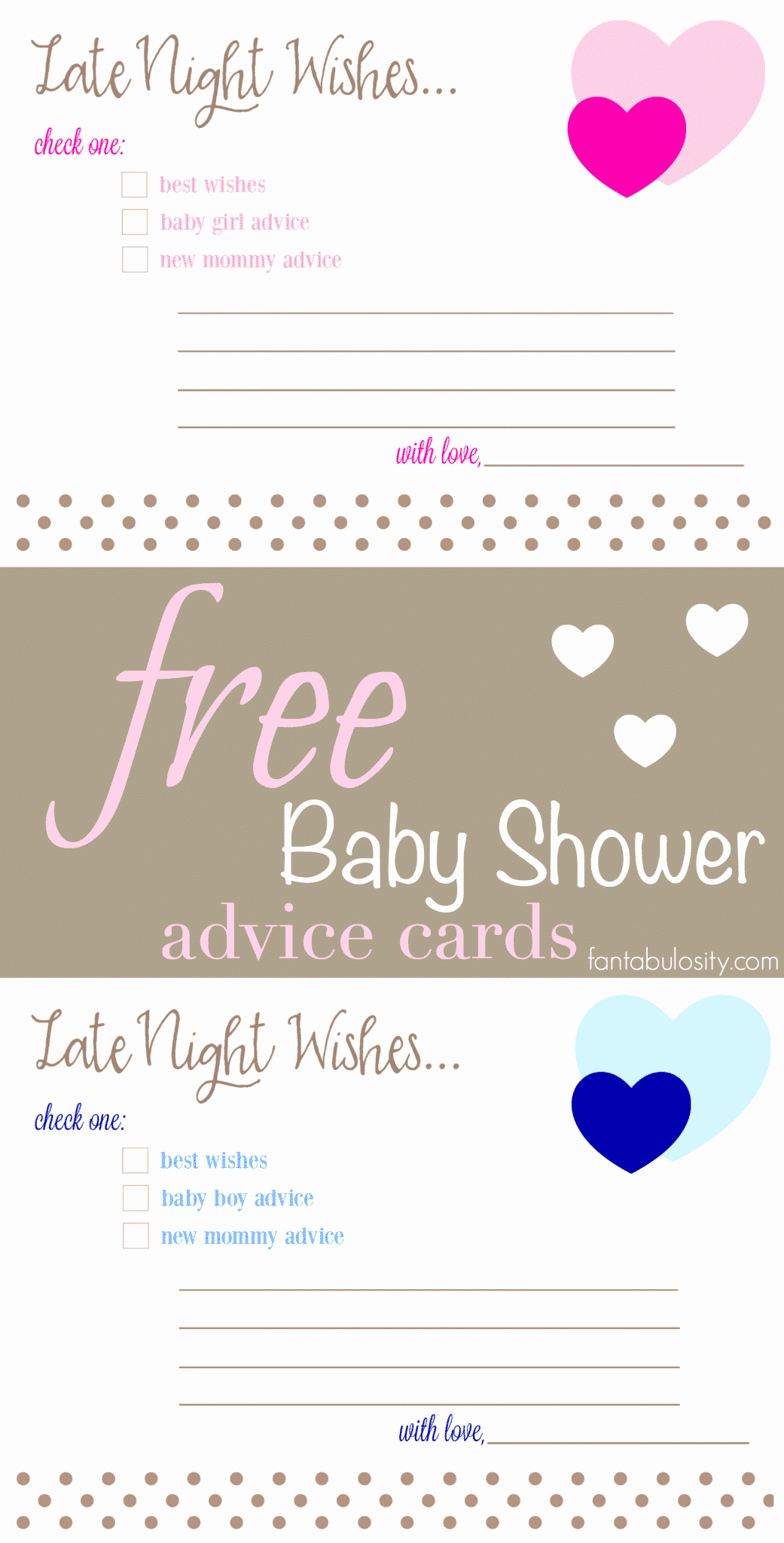 Baby Shower Card Printable Luxury Free Printable Baby Shower Advice & Best Wishes Cards