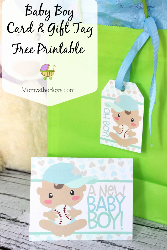 Baby Shower Card Printable New Baby Shower Card and Gift Tag Free Printable Mom Vs