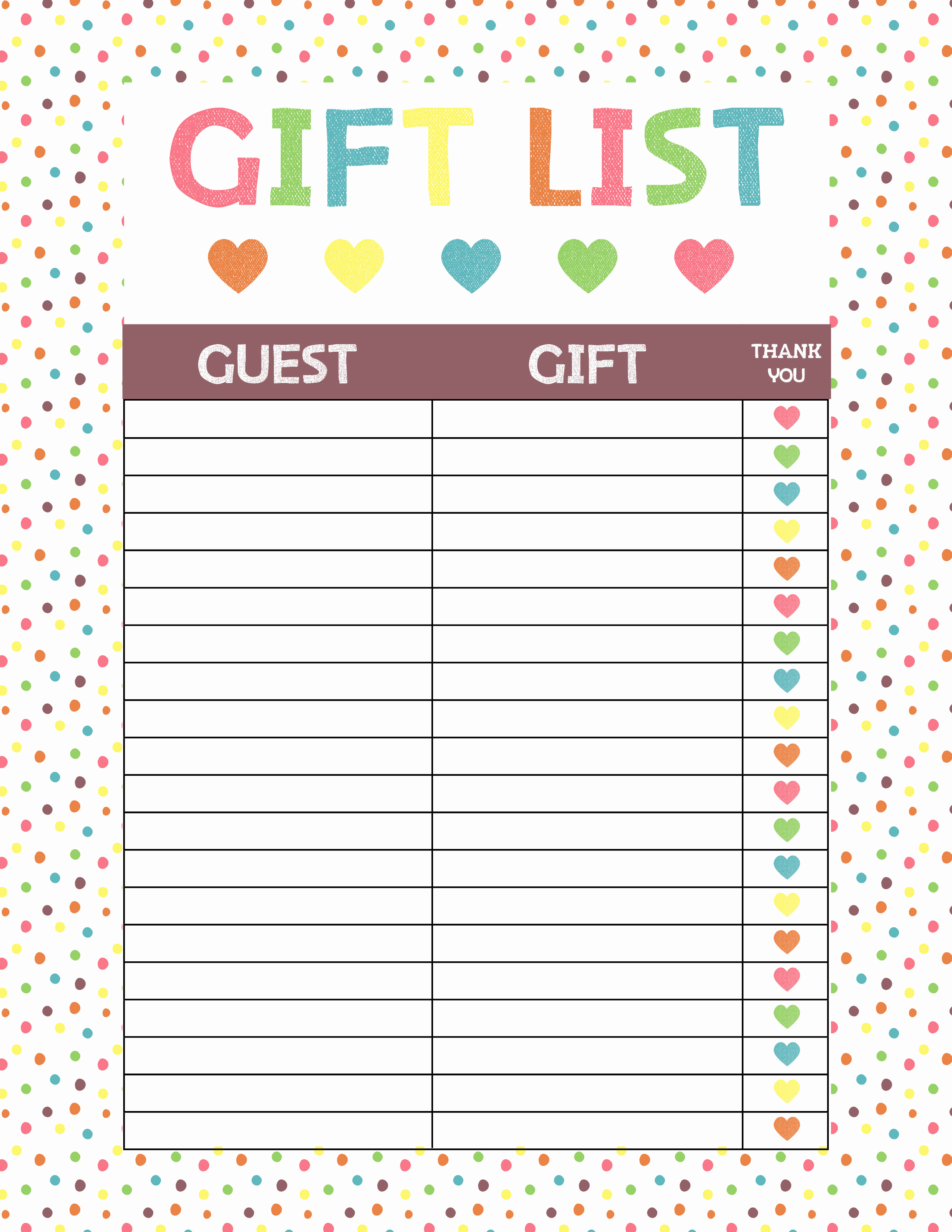 Baby Shower Gift Lists Beautiful Free Printable Baby Shower Gift List • Glitter N Spice