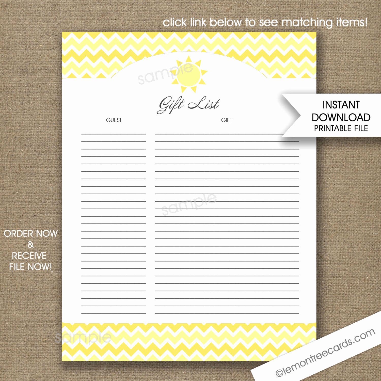 Baby Shower Gift Lists Best Of Sunshine Baby Shower Gift List Instant Printable T