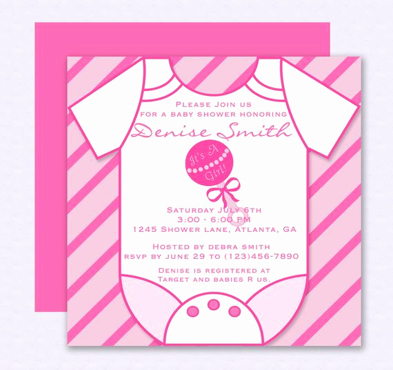 Baby Shower Invitations Templates Editable Awesome Pink Esie Baby Shower Invitation Editable Template