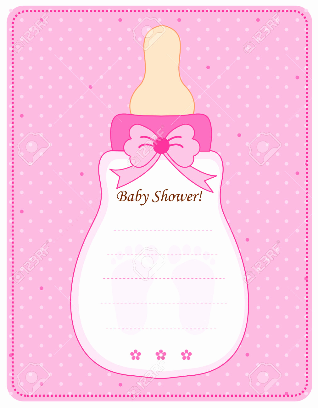 baby girl invitation templates