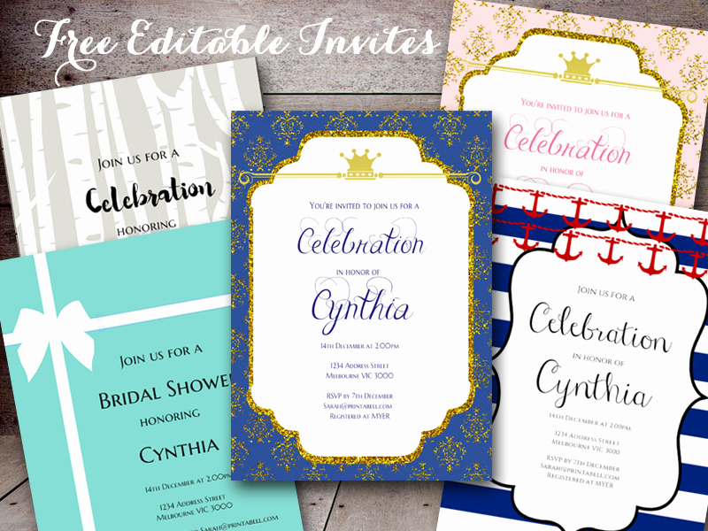 Baby Shower Invitations Templates Editable Lovely Free Editable Baby Shower Invitations Baby Shower Ideas