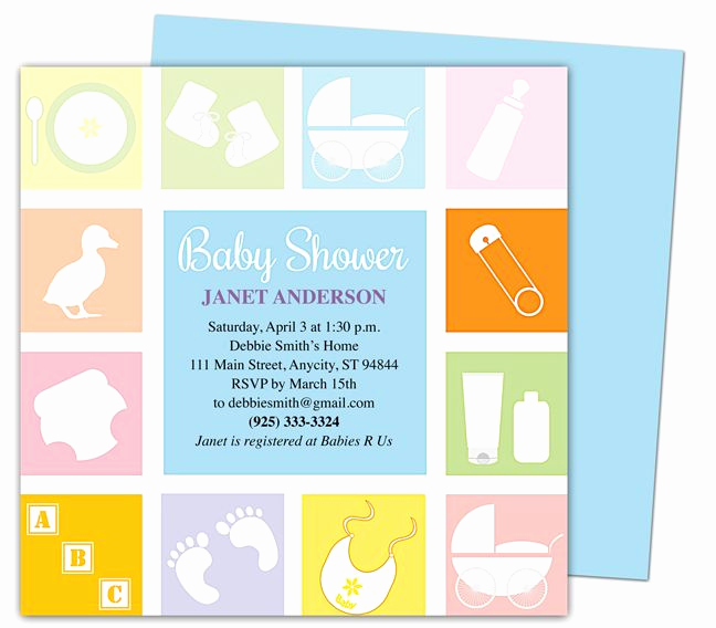 Baby Shower Invitations Templates Editable Luxury Baby Shower Invitations Template Blocks Shower
