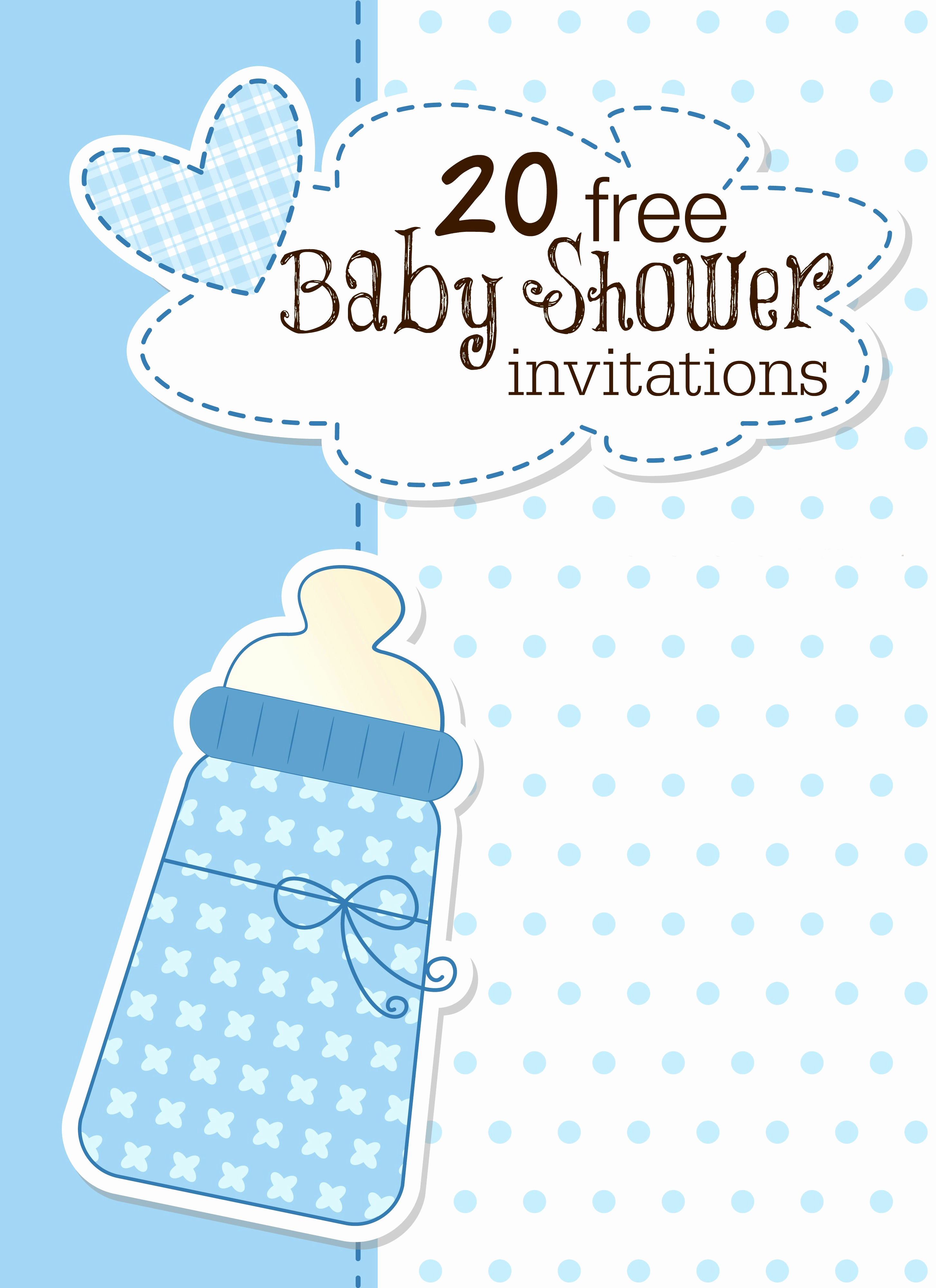 Baby Shower Invite Template Beautiful Printable Baby Shower Invitations