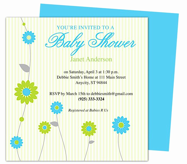 Baby Shower Invite Template Inspirational 42 Best Images About Baby Shower Invitation Templates On