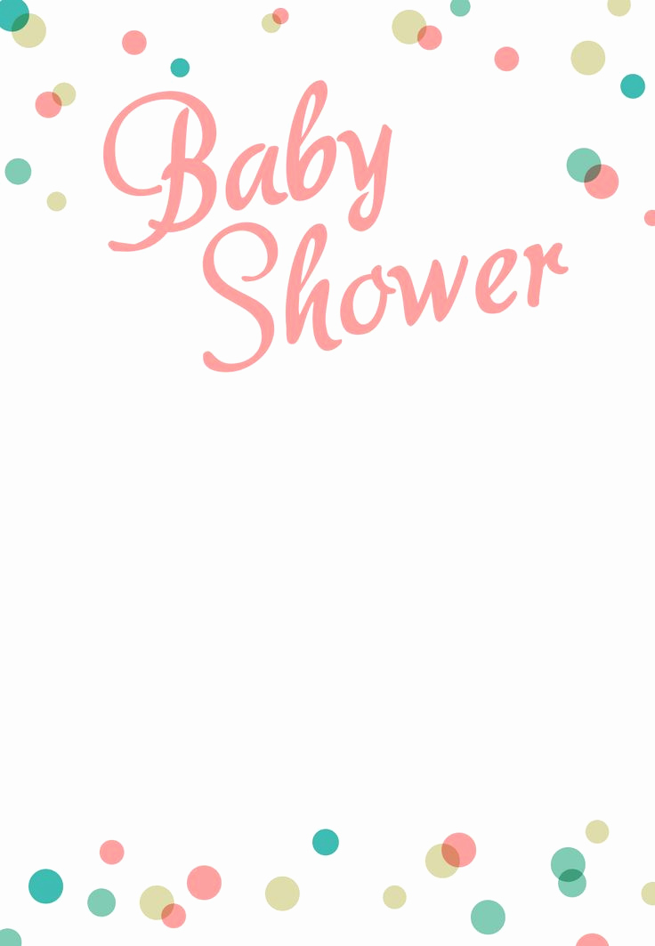 Baby Shower Invite Template Inspirational Dancing Dots Borders Free Printable Baby Shower