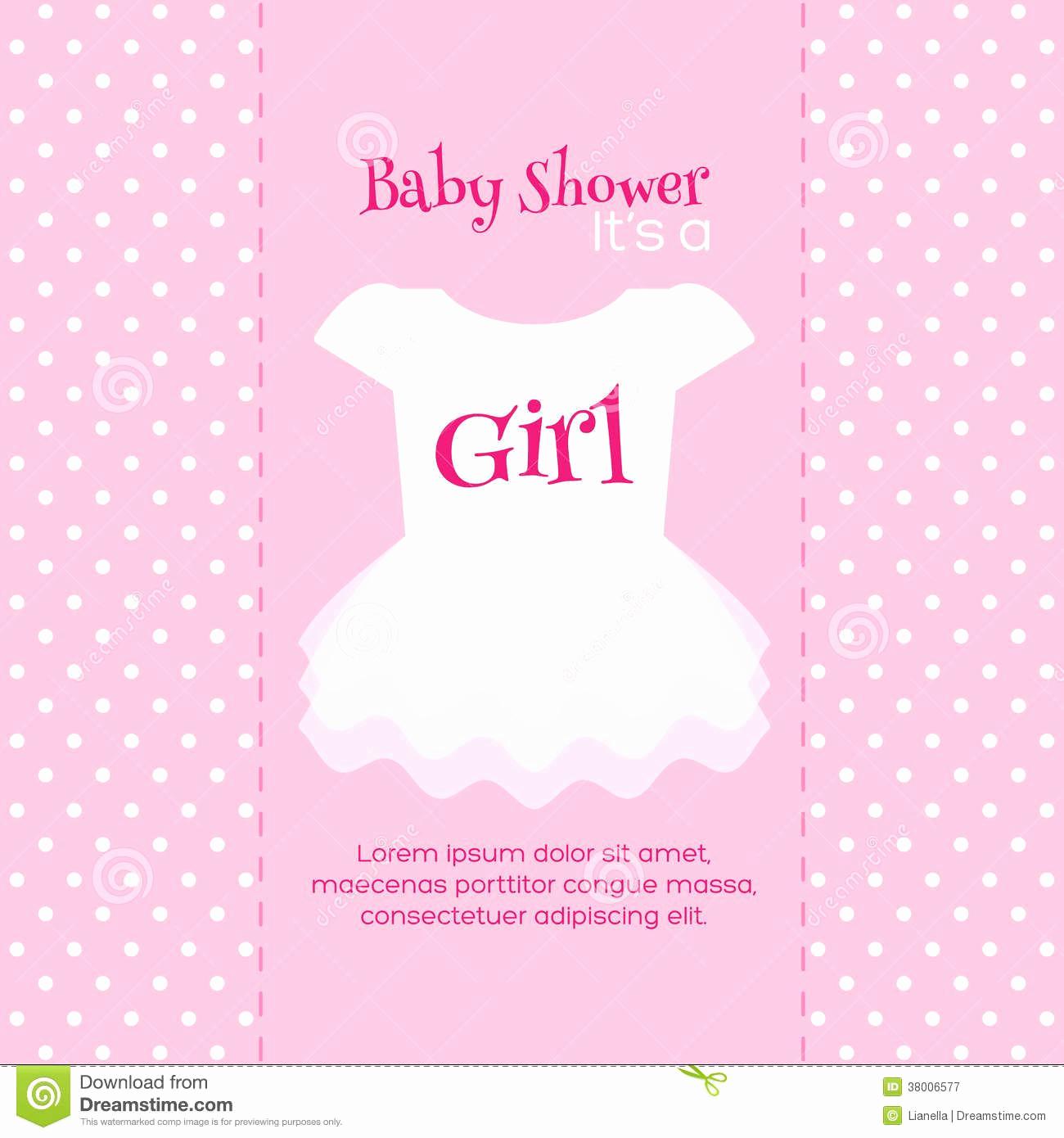 Baby Shower Invite Template Lovely Design Free Printable Baby Shower Invitations for Girls
