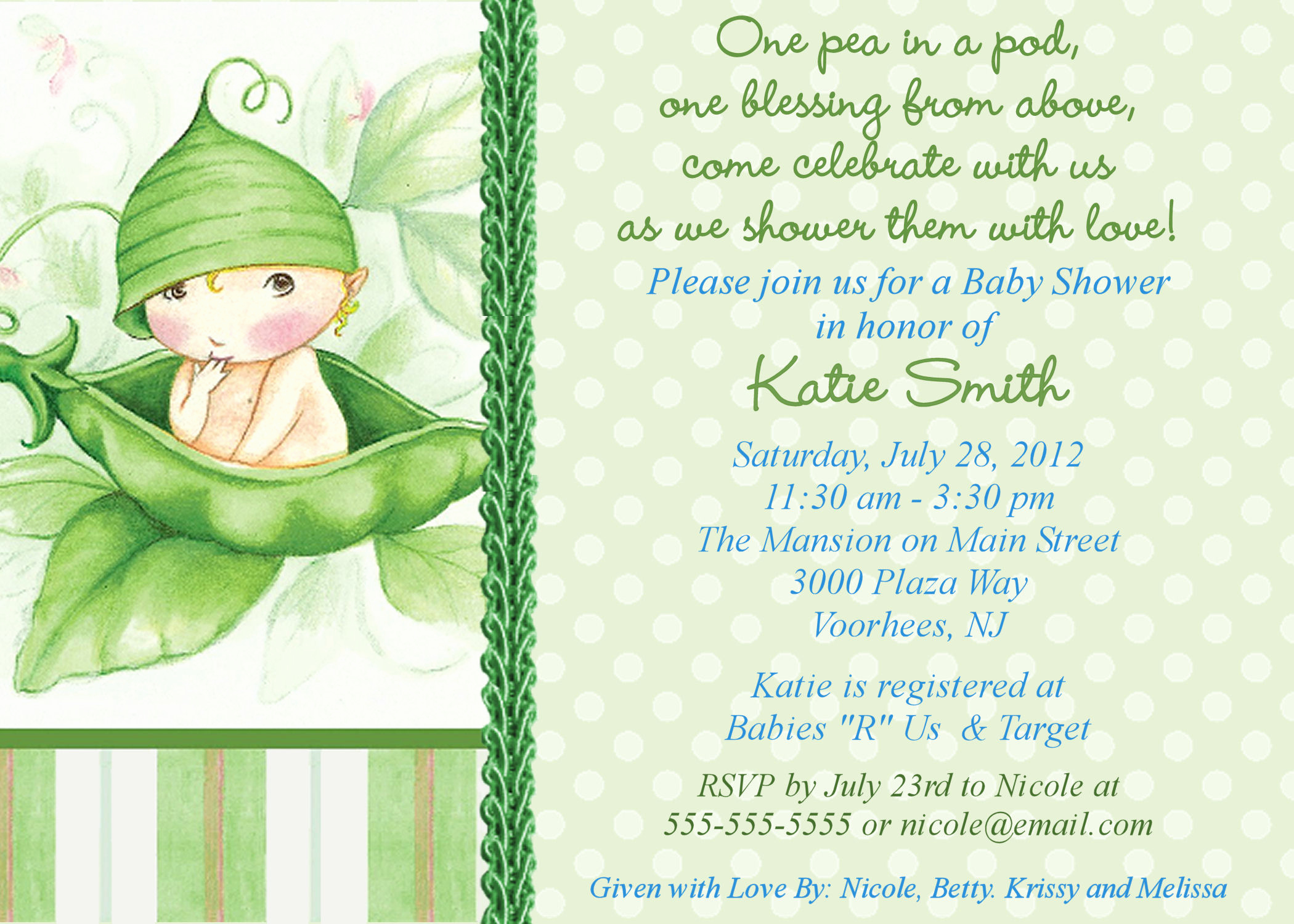 Baby Shower Invite Template Luxury Twin Baby Shower themes Ideas Pea In the Pod