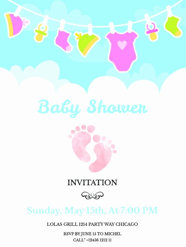 Baby Shower Invite Template New 59 Unique Baby Shower Invitations
