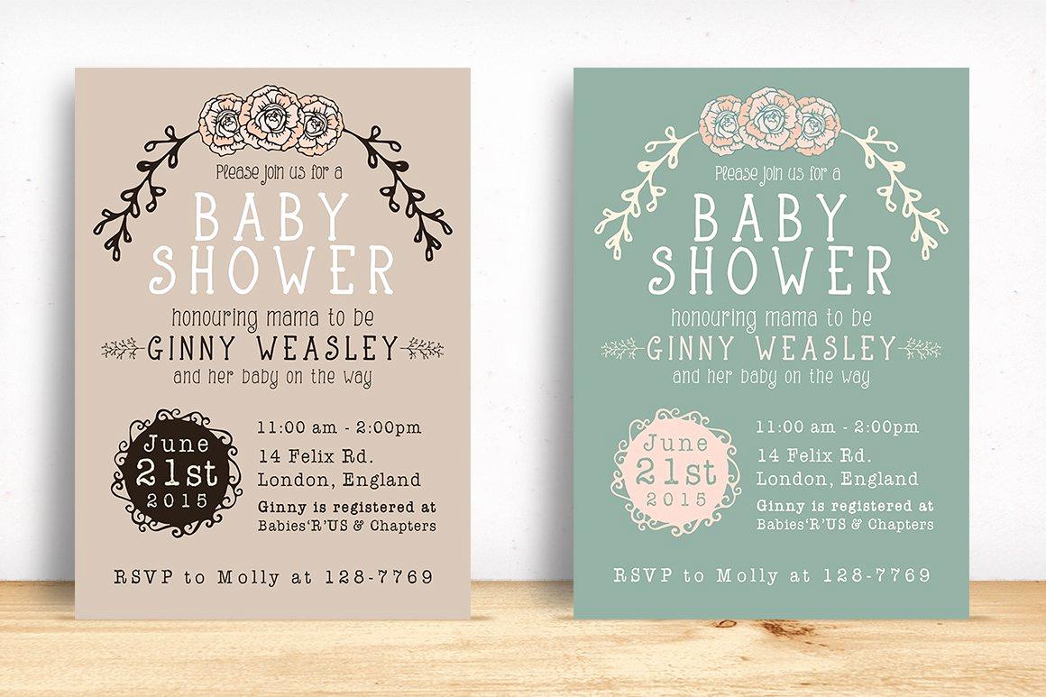 Baby Shower Invite Template New Baby Shower Invitation Invitation Templates Creative