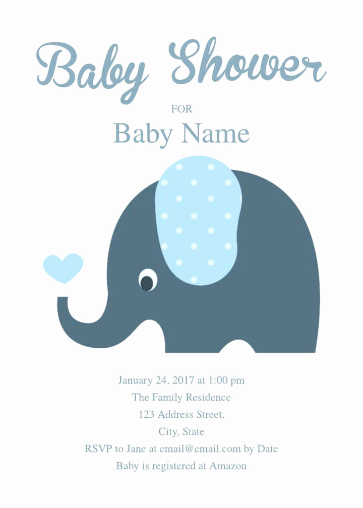 Baby Shower Invite Template Unique 16 Free Invitation Card Templates & Examples Lucidpress