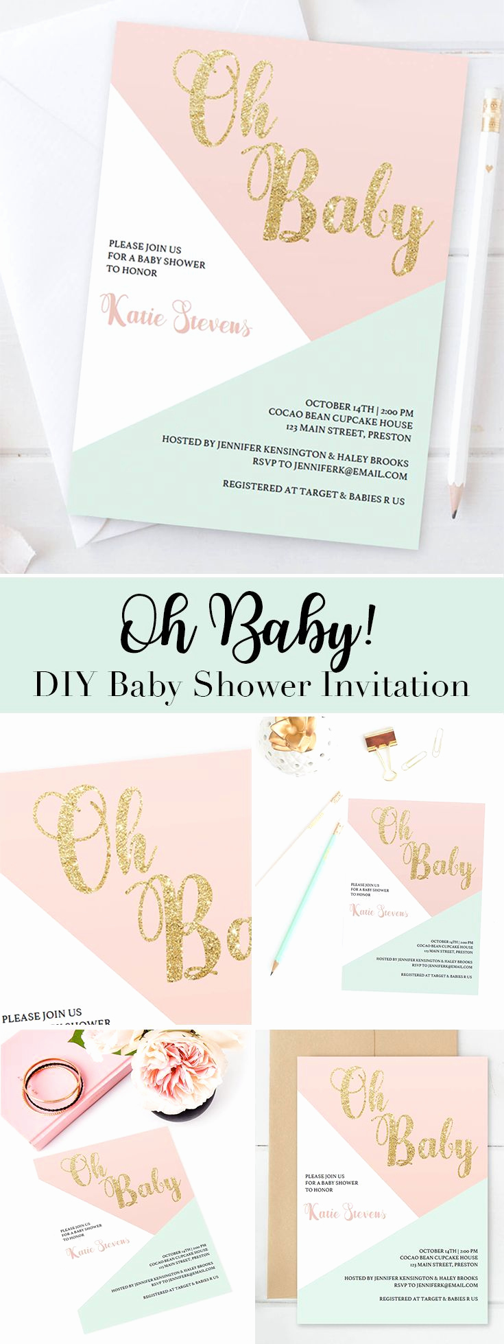 Baby Shower Invite Template Unique Best 25 Baby Shower Templates Ideas On Pinterest