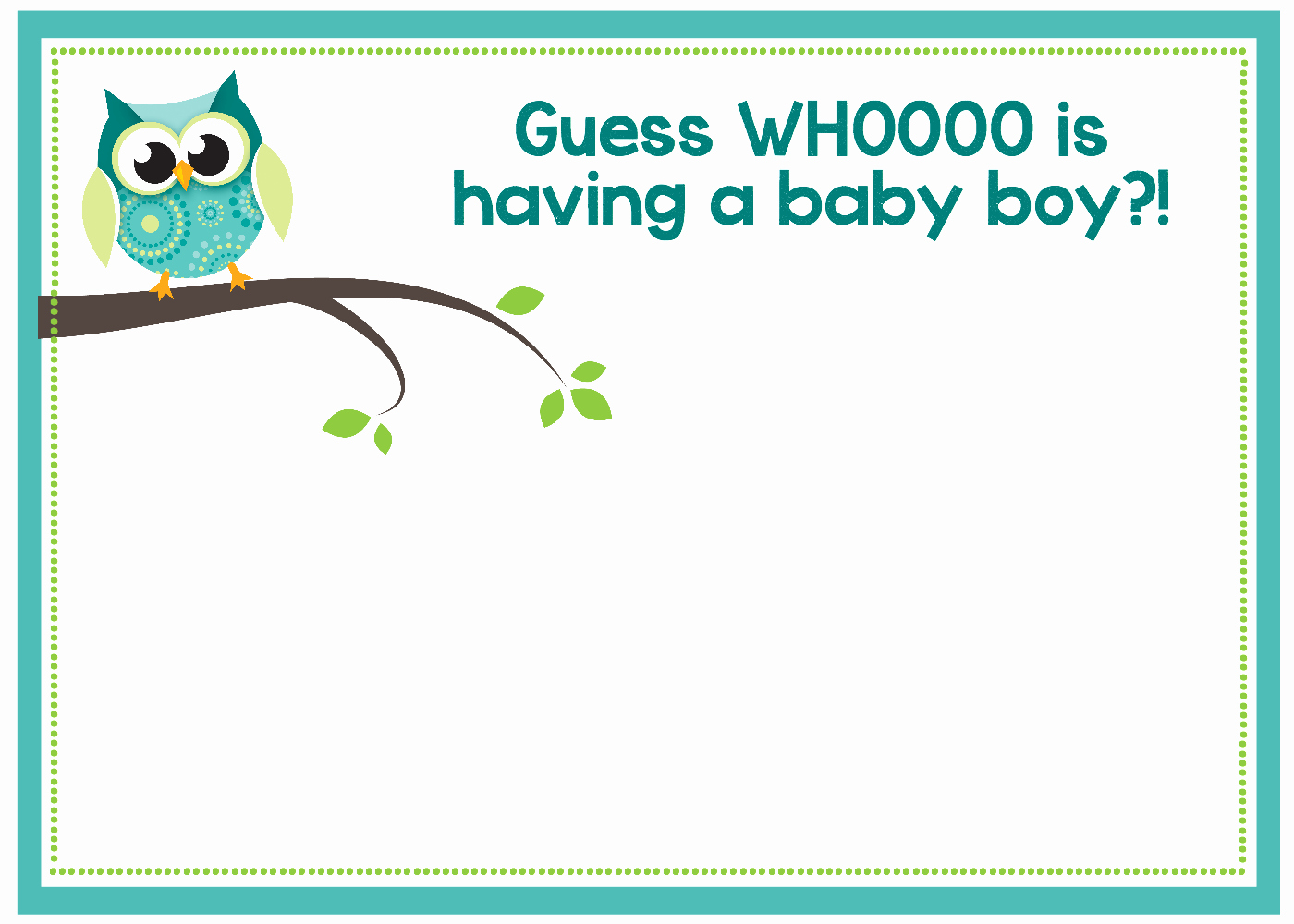 Baby Shower Invite Template Unique Free Printable Owl Baby Shower Invitations & Other