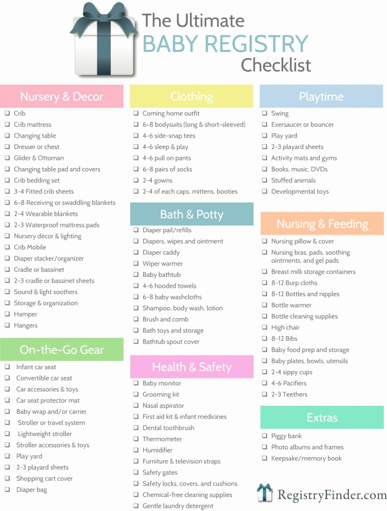 Baby Shower Planning Check List Awesome Ultimate Baby Registry Checklist