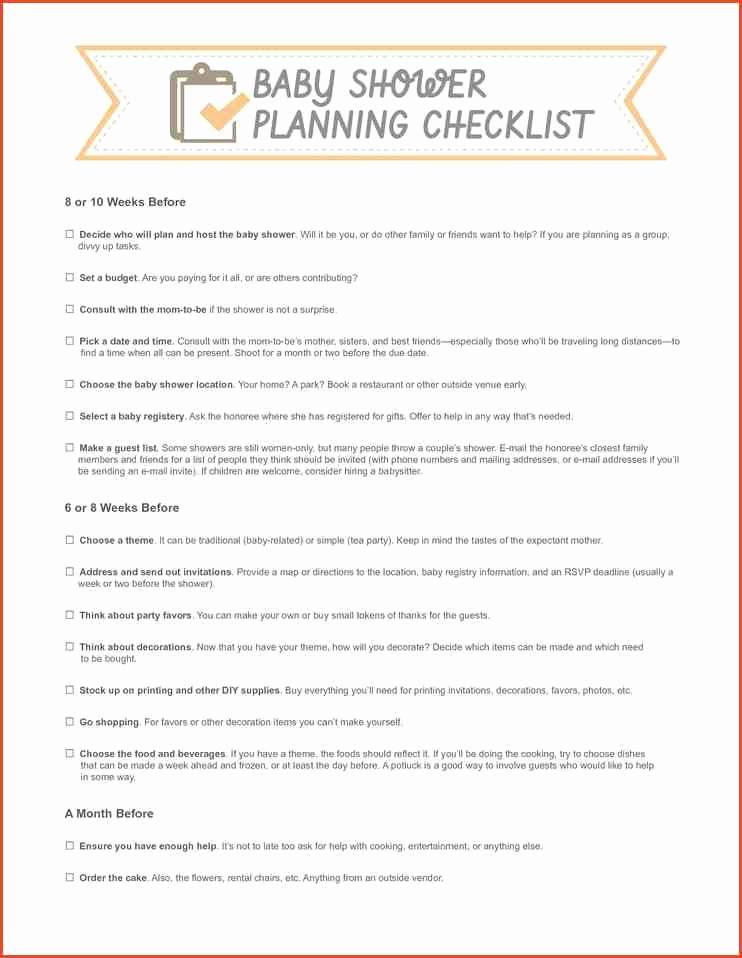 Baby Shower Planning Check List Elegant 24 Helpful Baby Shower Checklists