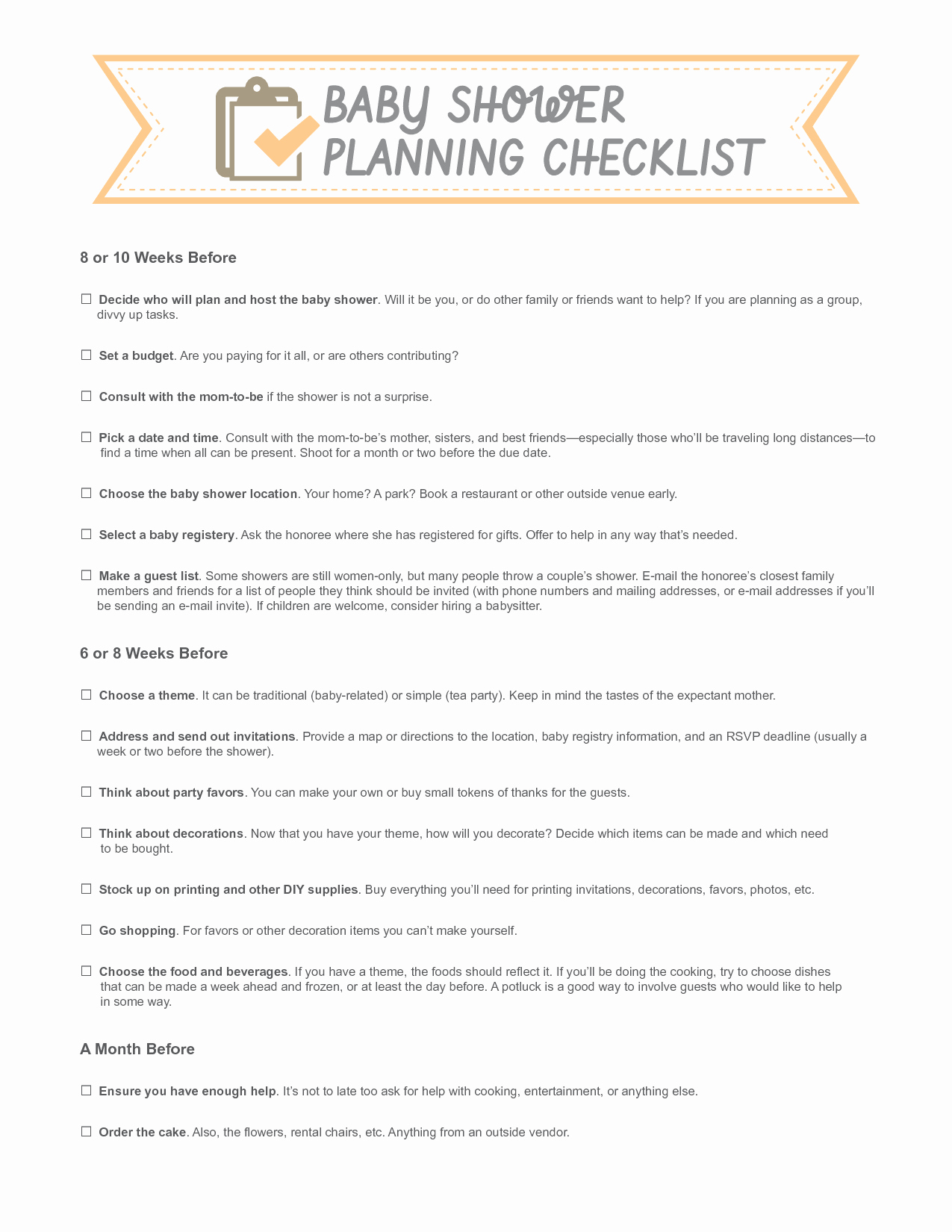 Baby Shower Planning Check List Inspirational Template for Bowtie for A Baby Shower