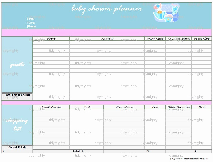 Baby Shower Planning Check List New Baby Shower Planner organizer Printable Pdf by Tidymighty