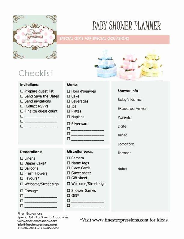 Baby Shower Planning Checklist Best Of 17 Best Ideas About Baby Shower Checklist On Pinterest