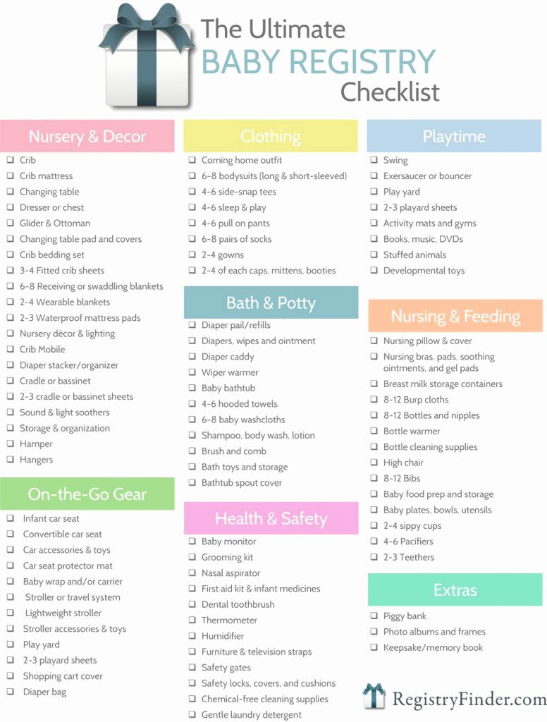 Baby Shower Planning Checklist Elegant Ultimate Baby Registry Checklist