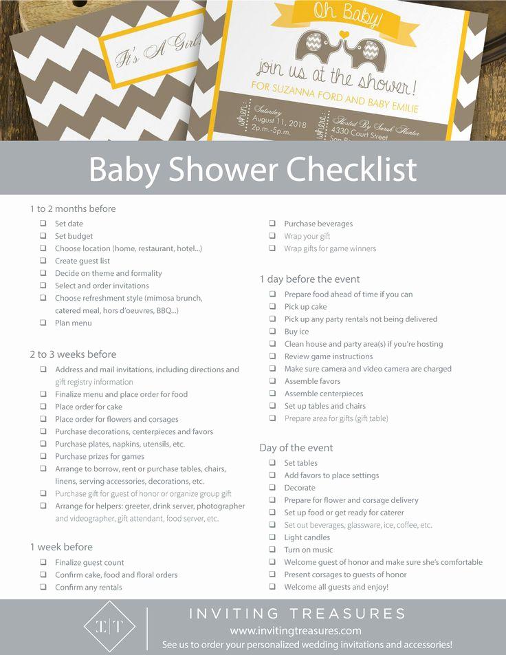 Baby Shower Planning Checklist Inspirational Best 25 Baby Shower Checklist Ideas On Pinterest