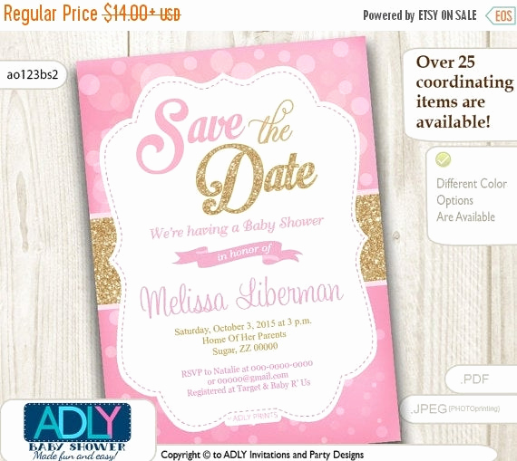 Baby Shower Save the Dates Awesome Save the Date Invitation for Baby Shower by Adlyowlinvitations