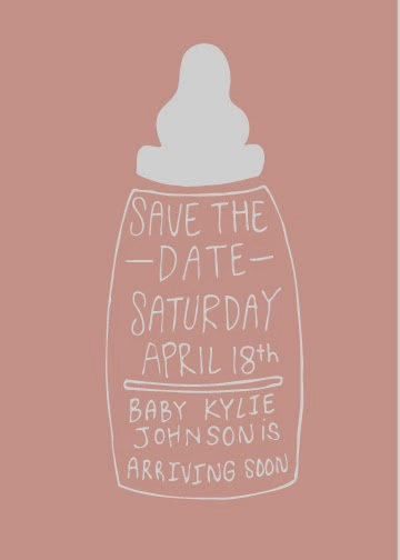 Baby Shower Save the Dates Beautiful Save the Date 234 Jana Miller Portfolio