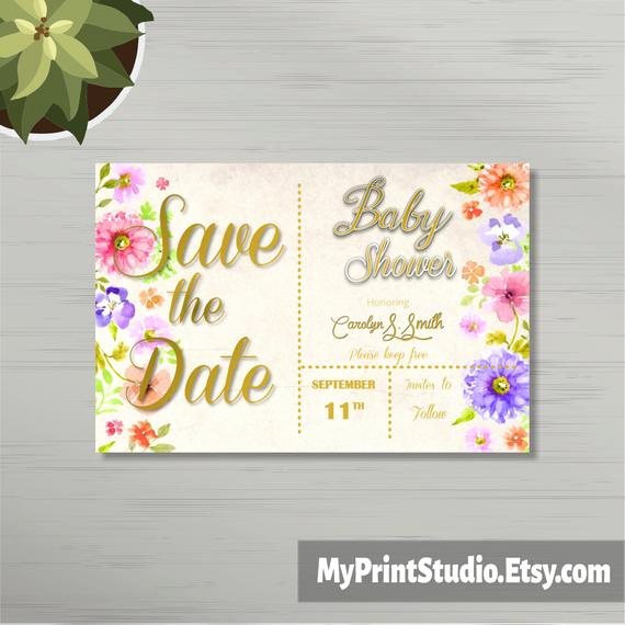 Baby Shower Save the Dates Beautiful Save the Date Uni Baby Shower Card Template In Word Boy or