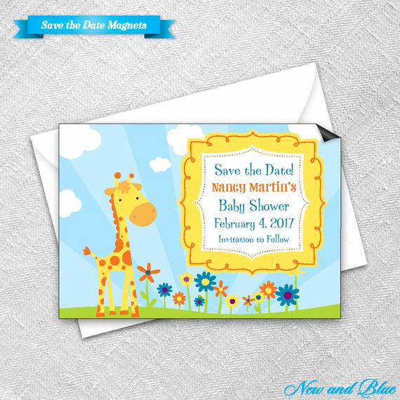 Baby Shower Save the Dates Best Of Save the Date Magnet Envelope Baby Shower Magnets by