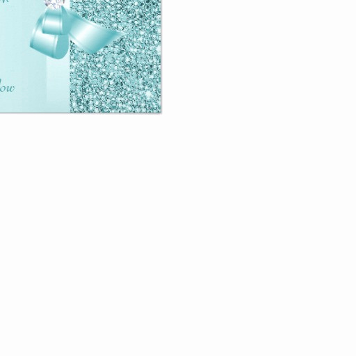 """Baby Shower Save the Dates Best Of Teal Printed Sequins Baby Shower Save the Date 3 5"""" X 5"""