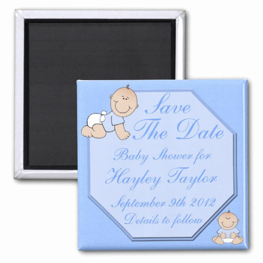 Baby Shower Save the Dates Lovely Baby Boy Shower Save the Date Magnet