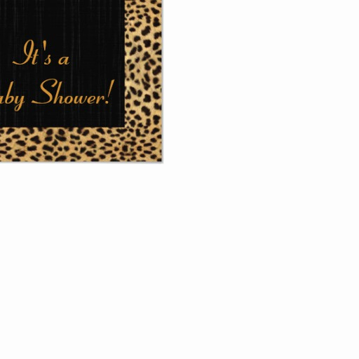 baby shower save the date cheetah print invitation