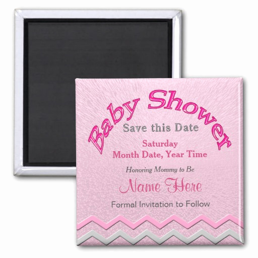 Baby Shower Save the Dates Lovely Customizable Save the Date Baby Shower Magnets
