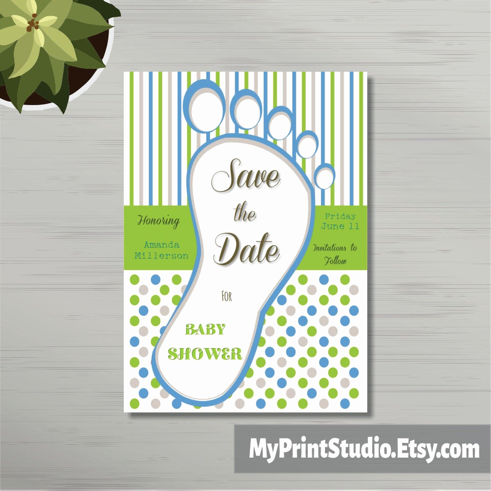 Baby Shower Save the Dates Lovely Save the Date Baby Boy Shower Card Template Save the Date