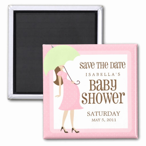 Baby Shower Save the Dates Luxury Pink Baby Shower Save the Date Fridge Magnet