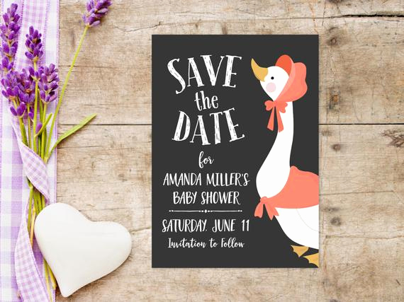 Baby Shower Save the Dates New Printable Baby Shower Save the Date Invitation 5x7 Inches