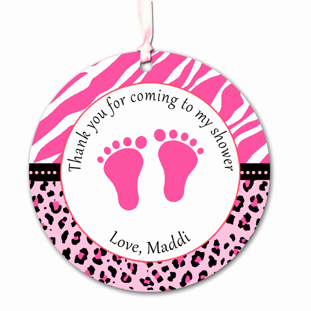 Baby Shower Thank You Tags Awesome 40 Custom Tags Thank You Label Baby Girl Shower Feet Hot