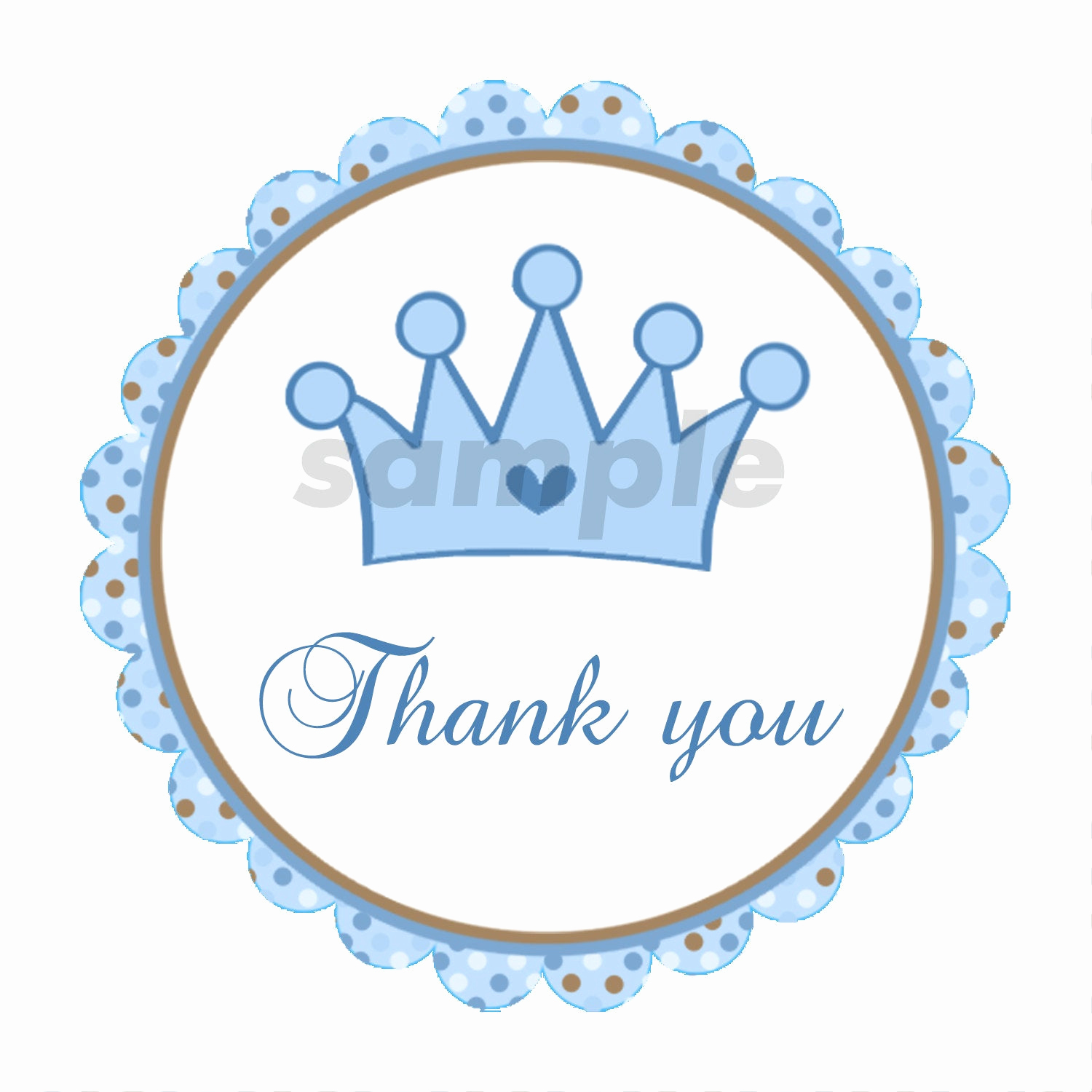 Baby Shower Thank You Tags Beautiful Prince Labels Prince Tags Prince Thank You Stickers Prince