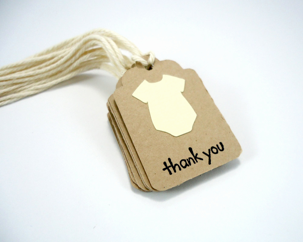 Baby Shower Thank You Tags Beautiful Tiny Baby Shower Tags Yellow Small Thank You Tags Gender