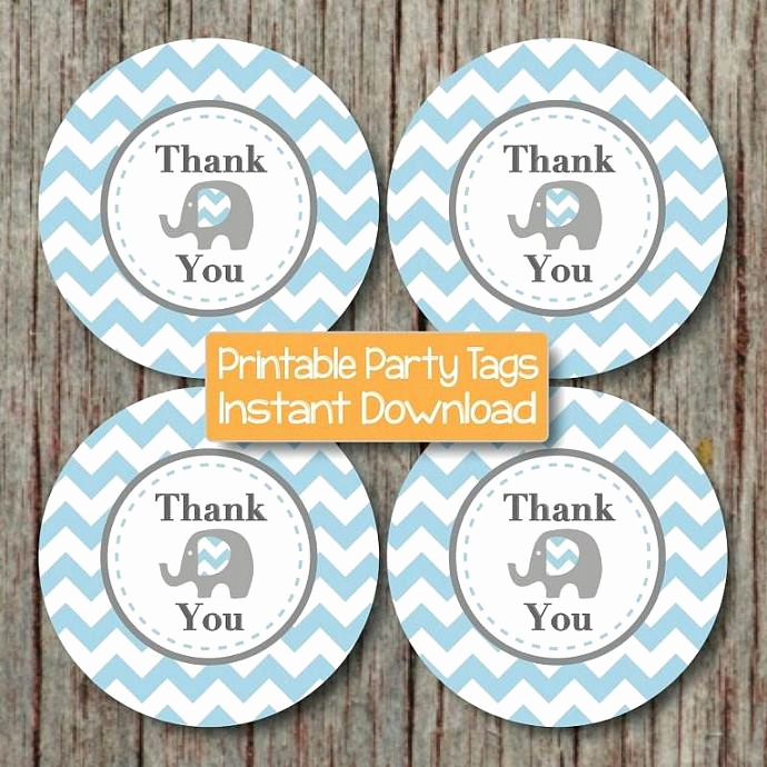 Baby Shower Thank You Tags Best Of Printable Thank You Tags Birthday by Bumpandbeyonddesigns