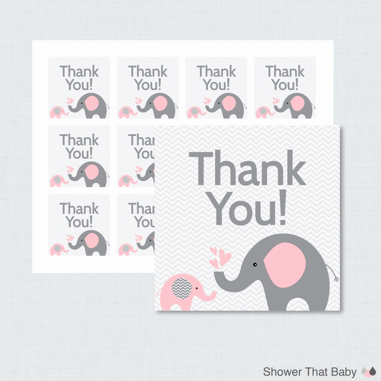 Baby Shower Thank You Tags Elegant Printable Elephant Baby Shower Favor Tags Thank You Tag for