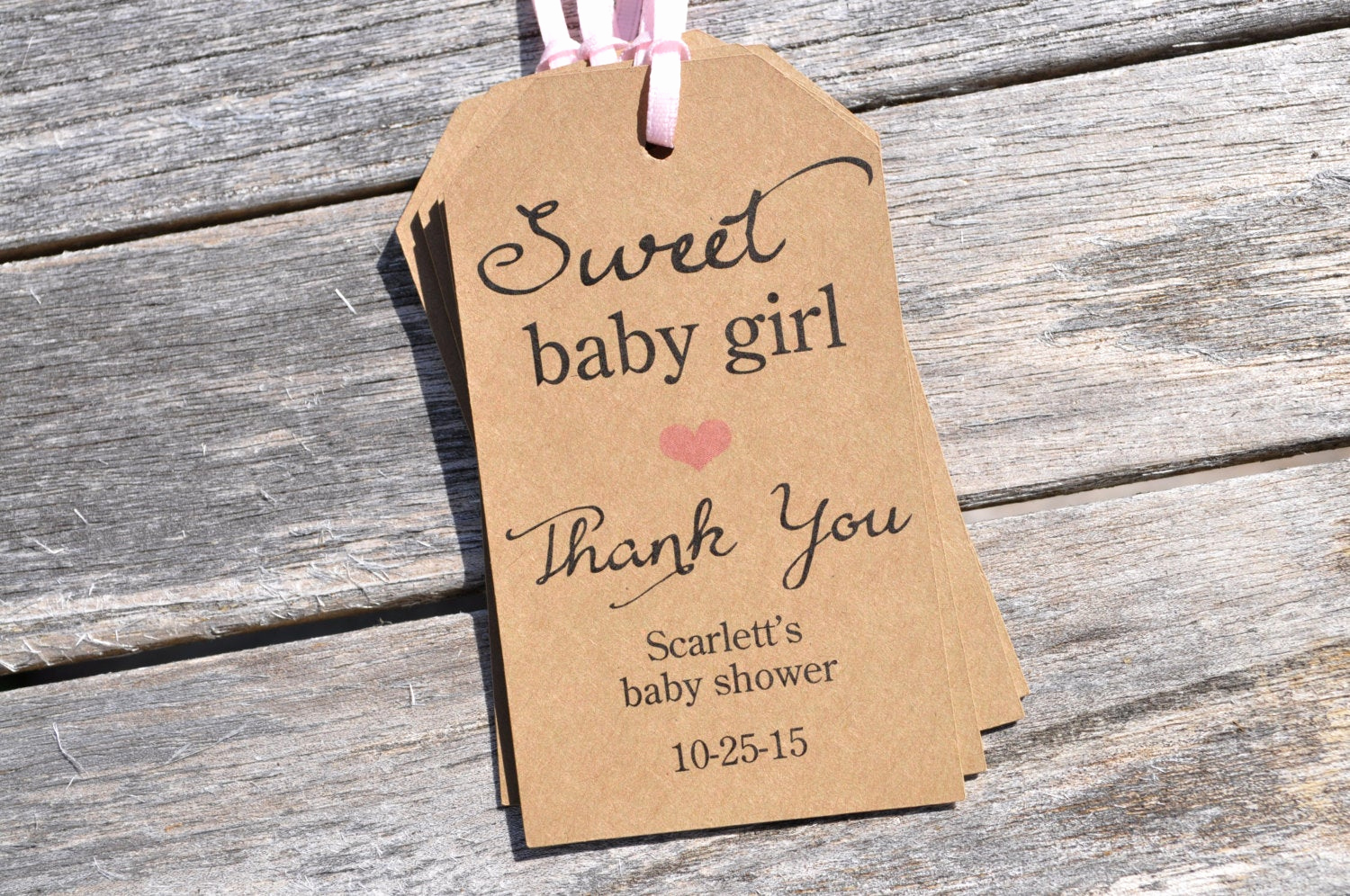 Baby Shower Thank You Tags Elegant Rustic Baby Shower Favor Tags Sweet Baby Girl Thank You