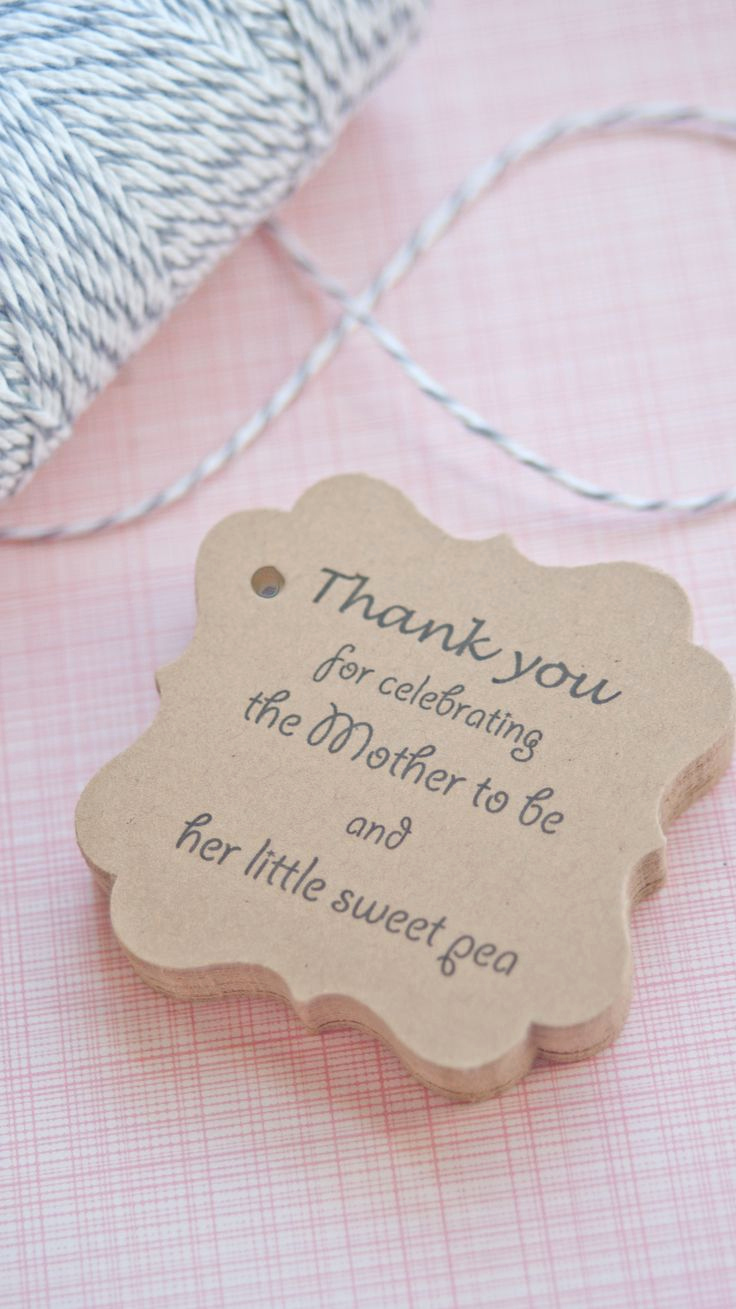 Baby Shower Thank You Tags Lovely Baby Shower Favor Tags