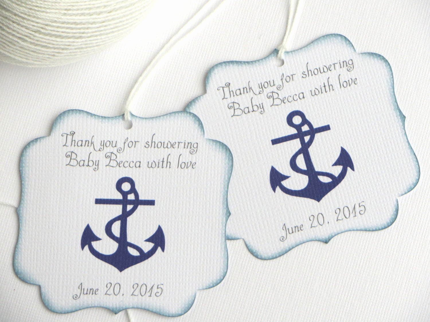 Baby Shower Thank You Tags New Nautical Baby Shower Favor Tags Navy Blue Baby Shower Thank