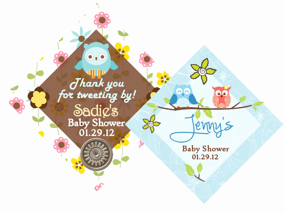 Baby Shower Thank You Tags New Owl Baby Shower Birthday Favor Thank You Tags Hole Punched