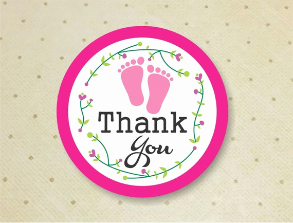 Baby Shower Thank You Tags Unique Printable Baby Shower Favor Thank You Tags for Girls