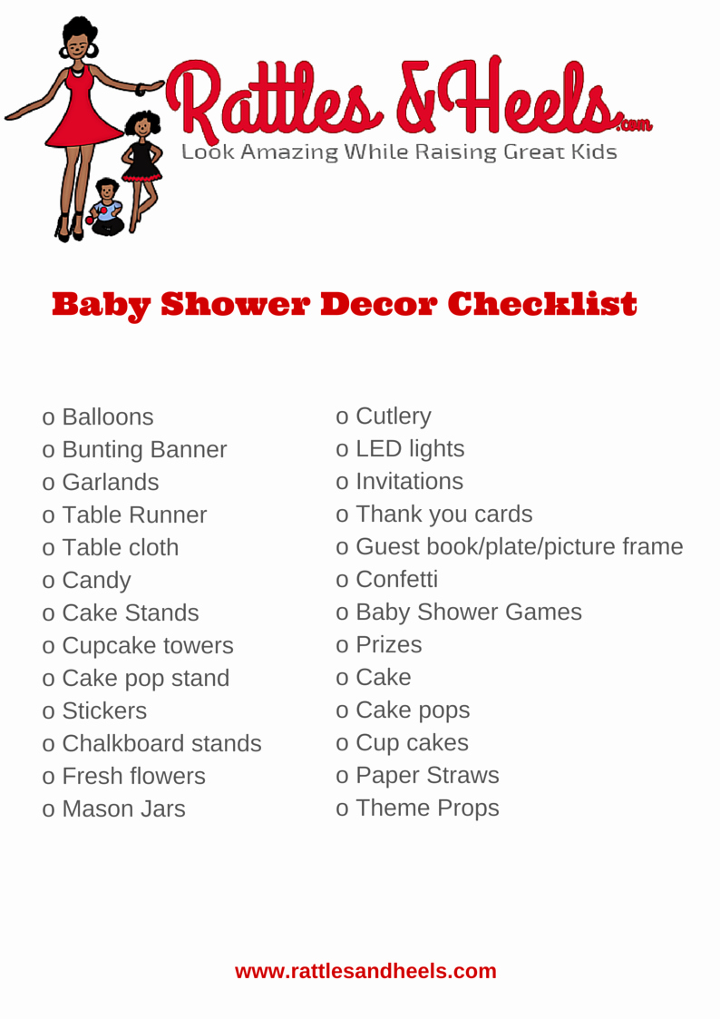 Baby Shower to Do List Beautiful Fabulous Baby Shower Decorations Checklist [printable
