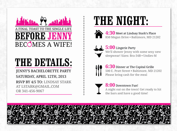 29 images of bachelorette weekend invitation template 3741