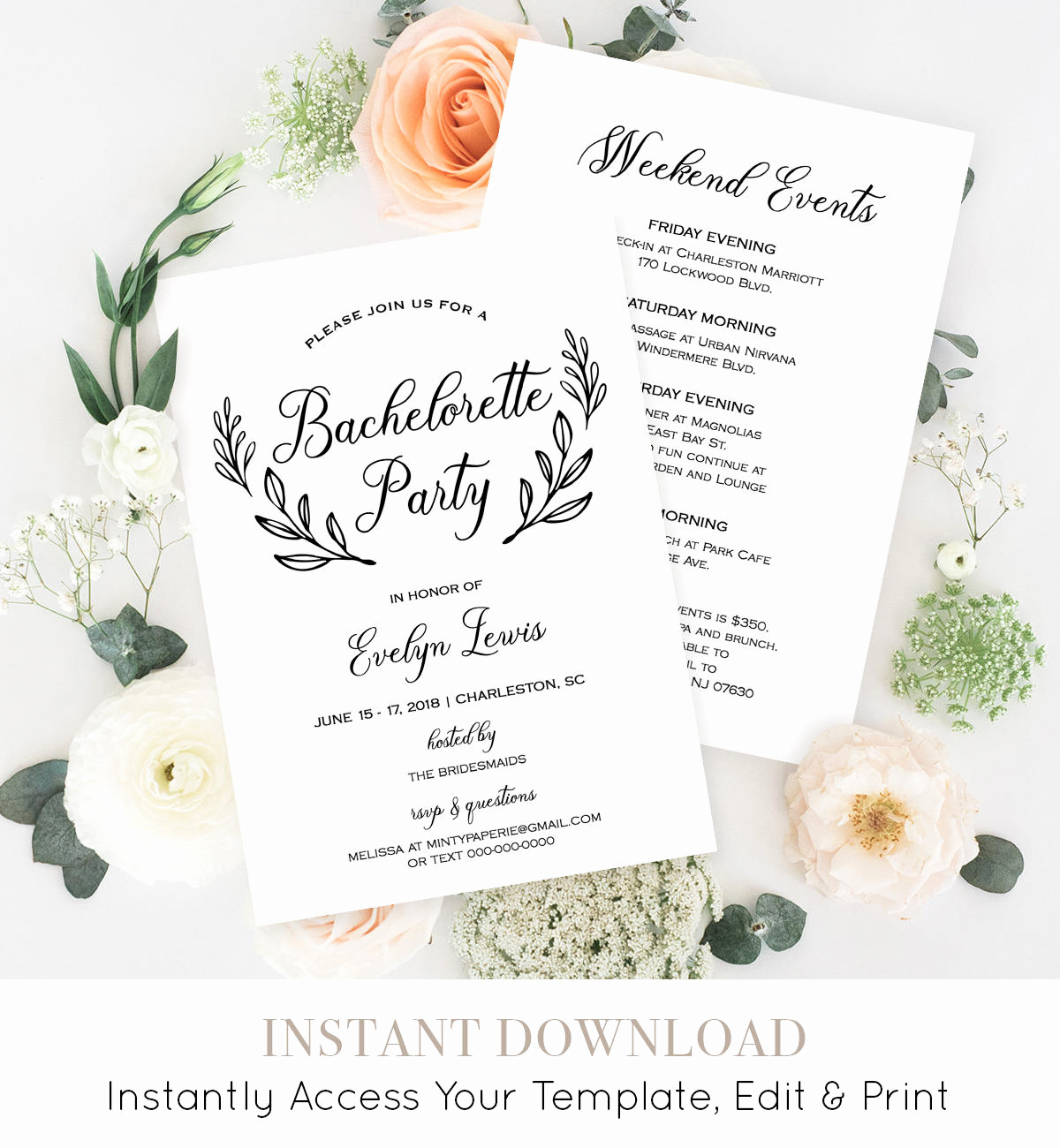 Bachelorette Party Itinerary Template Best Of Bachelorette Party Invitation Template Printable
